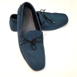 ❌SOLD❌SOLD❌Tods Navy Leather Men Driving Shoes …